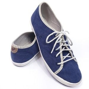 Roxy Memphis Sneakers Blue Canvas Size 10